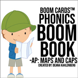 Boom Cards™️ Phonics Boom Book: Maps and Caps