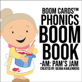 Boom Cards™️ Phonics Boom Book: Pam's Jam
