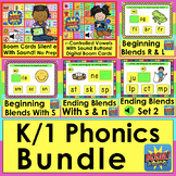Boom Cards Phonics Bundle for K/1 Distance Learning