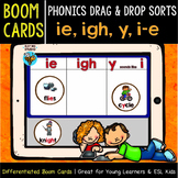 Boom Cards | Phonics Drag and Drop Sorts | Long I | ie, igh, y, i-e