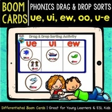 Boom Cards | Phonics Drag and Drop Sorts | Long U | ue-ui-ew-oo-u-e