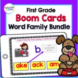 Boom Cards 1st Grade | WORD FAMILIES ACTIVITIES | Digital Task Cards
