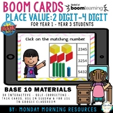 Boom Cards™ Place Value 2digit - 4 digit numbers - Distanc
