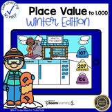 Boom Cards Place Value to 1,000 Winter