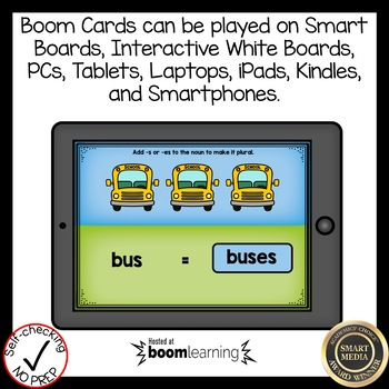Boom Cards Plural Nouns with s and es