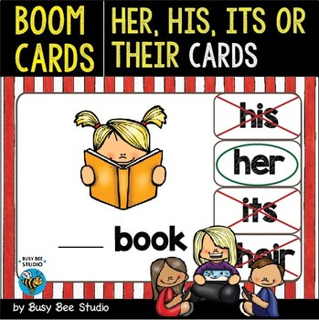 Boom Cards | Possessive Adjectives Cards |Easy Grammar for Young Learners