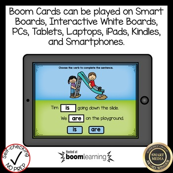 Boom Cards Verbs is and are