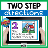 Boom Cards Two Step Directions with Spatial Concepts No Print Activity