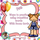 Boom Cards: Practice Using Transition Words