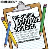 Boom Cards™️ Preschool Language Screeners