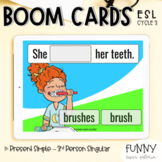 Boom Cards™ Present Simple - 3rd Person Singular