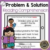 Boom Cards Problem and Solution Reading Comprehension