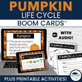 Pumpkin Life Cycle BOOM CARDS - Digital Interactive Task Cards