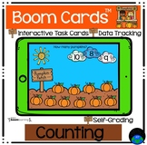 Boom Cards™ Pumpkins Kindergarten Counting Distance Learning