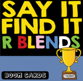 Boom Cards | R blends Speech & Inferencing | Speech and Language Therapy