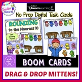 Boom Cards Math | ROUNDING TO 10 | Digital Task Cards | Winter Mittens
