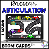 Boom Cards: Racecar Roundup Initial /L/, Medial /L/, Final /L/ (Gliding)