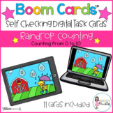 Boom Cards™  Raindrop Counting (0-10)