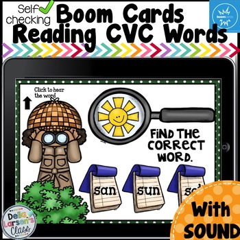 Boom Cards Reading CVC Words - Detective