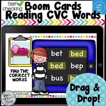 Boom Cards Reading CVC Words - On an IPAD