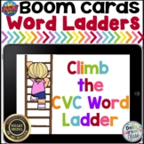 Boom Cards Reading CVC Words with Word Ladders
