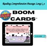 Boom Cards Reading Comprehension Passage  Long i_e (K-1)