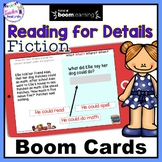 Boom Cards Reading Comprehension Passages for 2nd grade & 3rd grade (FICTION)