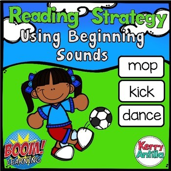 Boom Cards: Reading Strategy-Beginning Sounds