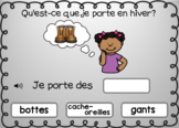 Boom Cards™ Reading Words in French - Winter clothes / les vêtements d'hiver