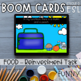 Boom Cards™ Reinvestment Task (Theme : FOOD)