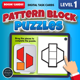 Pattern Block Puzzles LEVEL ONE • Boom Cards Remote Learning