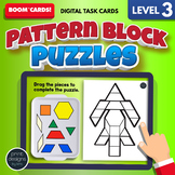 Pattern Block Puzzles LEVEL THREE • Boom Cards Remote Learning