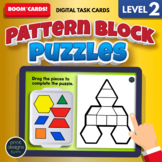 Pattern Block Puzzles LEVEL TWO • Boom Cards Remote Learning