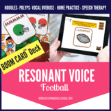 Boom Cards™ Resonant Voice Therapy Football for Speech Therapy Telepractice