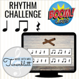 Boom Cards Rhythm Challenge: Quarter, eighth, quarter rest