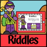 Boom Cards| Riddles for Kids 2 | Bell Ringers End of Day | Distance Learning