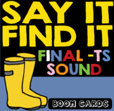 Boom Cards | S articulation Inferencing | -ts sounds | Speech Therapy