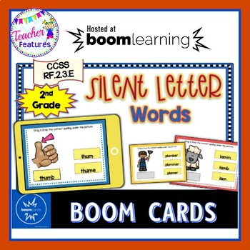 Boom Cards Reading, Phonics & Word Work SILENT LETTERS  RF.2.3.E.