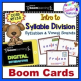 Digital Boom Cards SYLLABLE DIVISION GAMES First Grade