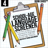 Boom Cards™️ School-Age Language Screener: 4th Grade