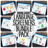 Boom Cards™️ School-Age Language Screeners Bundle Pack