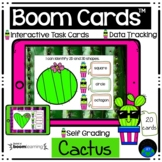 Boom Cards™ Cactus Second Grade 2D and 3D Shapes Distance