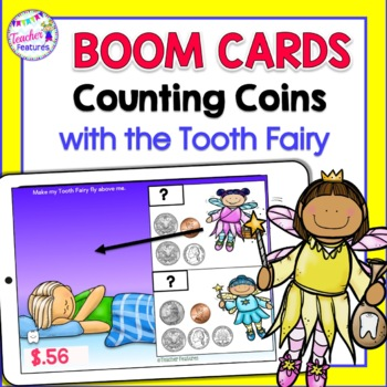 Boom Cards Math COUNTING COINS and MONEY with the Tooth Fairy