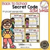 Boom Cards Sight Words Secret Code 1-100