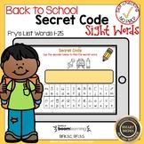 Boom Cards  Sight Words 1-25 Secret Code