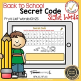 Boom Cards Sight Words 101-125 Secret Code