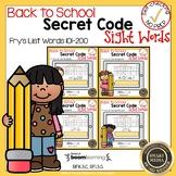 Boom Cards Sight Words 101-200 Secret Code Bundle