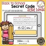 Boom Cards Sight Words 126-150 Secret Code