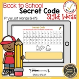Boom Cards  Sight Words 151-175 Secret Code