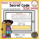 Boom Cards Sight Words 176-200 Secret Code